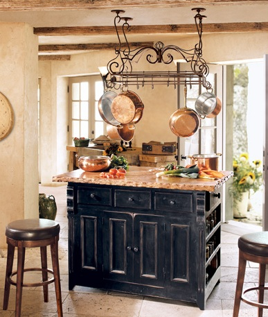 Modern kitchen ideas kitchen designs - aged copper kitchenware for ...